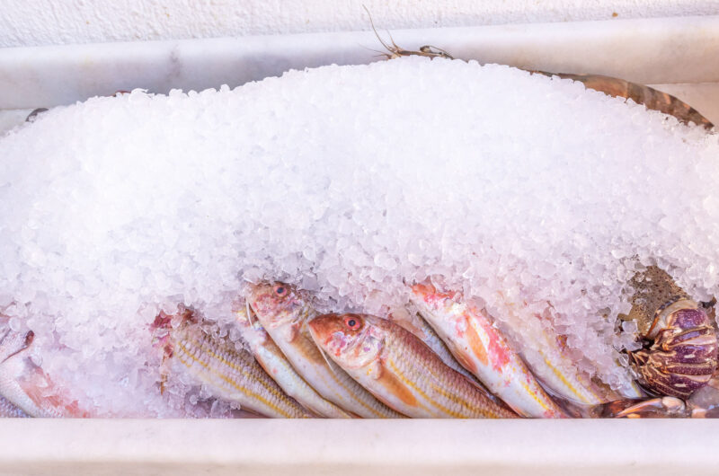 Pan fried red mullet with rosemary, vinegar