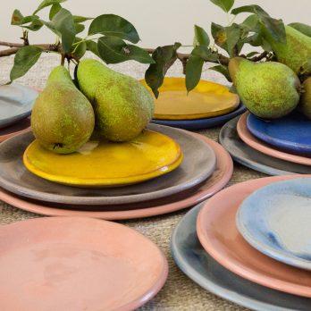Ceramic mezze plate set
